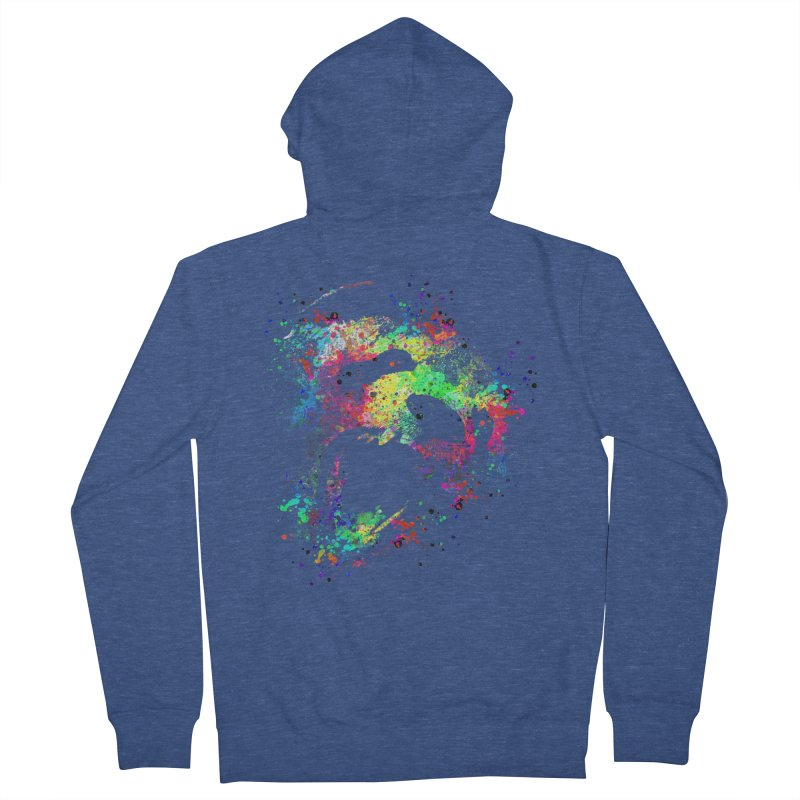 Dripping color panda Women's French Terry Zip-Up Hoody by clingcling's Artist Shop