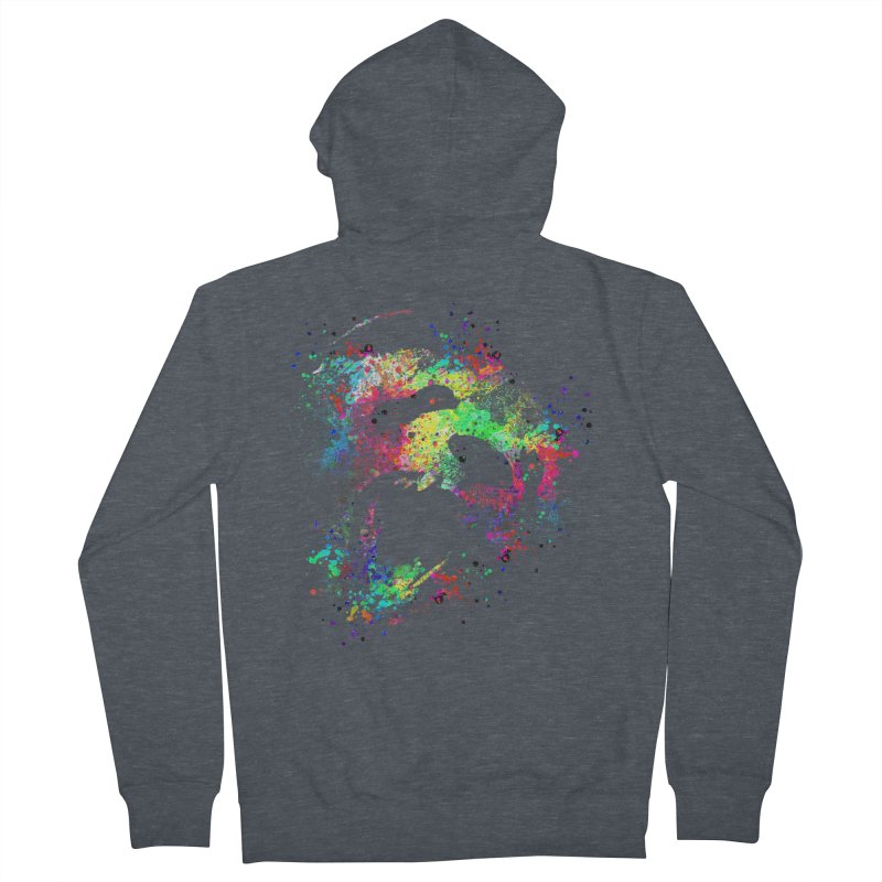 Dripping color panda Men's French Terry Zip-Up Hoody by clingcling's Artist Shop