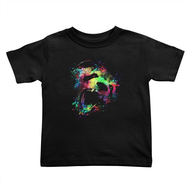 Dripping color panda Kids Toddler T-Shirt by clingcling's Artist Shop