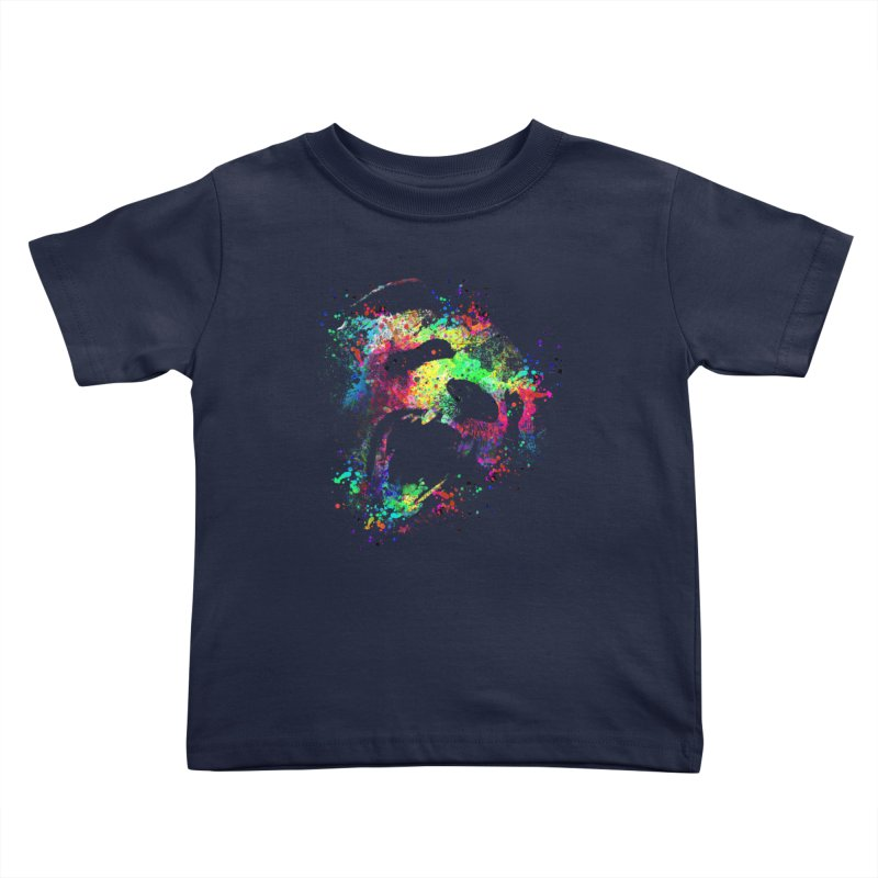Dripping color panda Kids Toddler T-Shirt by clingcling's Artist Shop