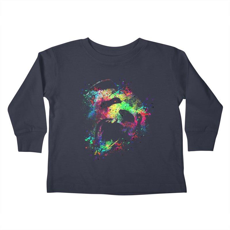 Dripping color panda Kids Toddler Longsleeve T-Shirt by clingcling's Artist Shop