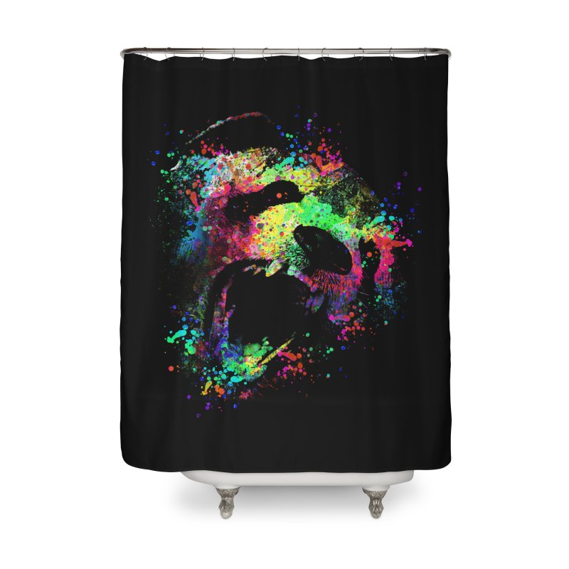 Dripping color panda Home Shower Curtain by clingcling's Artist Shop