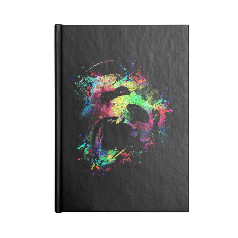 Dripping color panda Accessories Blank Journal Notebook by clingcling's Artist Shop