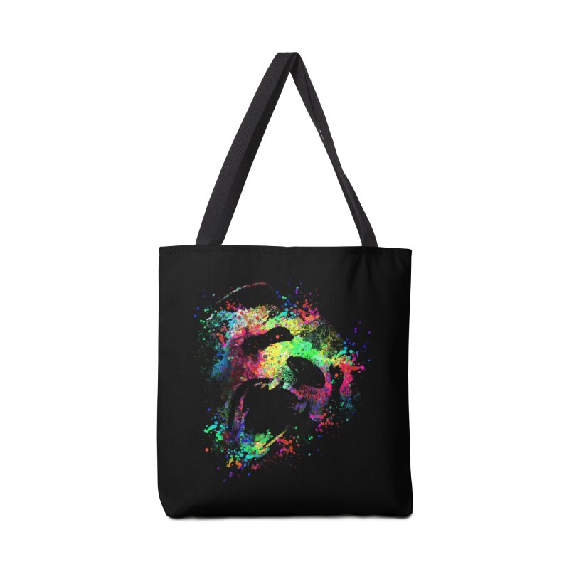 Dripping color panda Accessories Bag by clingcling's Artist Shop
