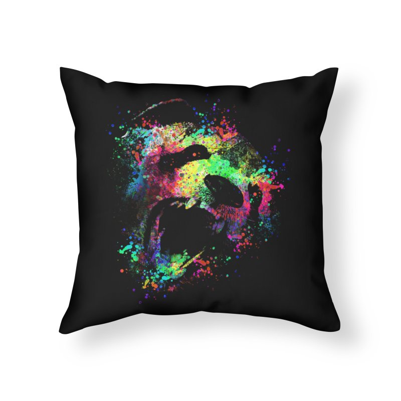 Dripping color panda Home Throw Pillow by clingcling's Artist Shop