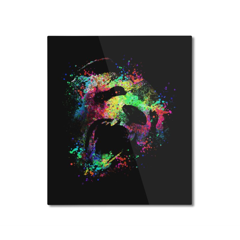 Dripping color panda Home Mounted Aluminum Print by clingcling's Artist Shop