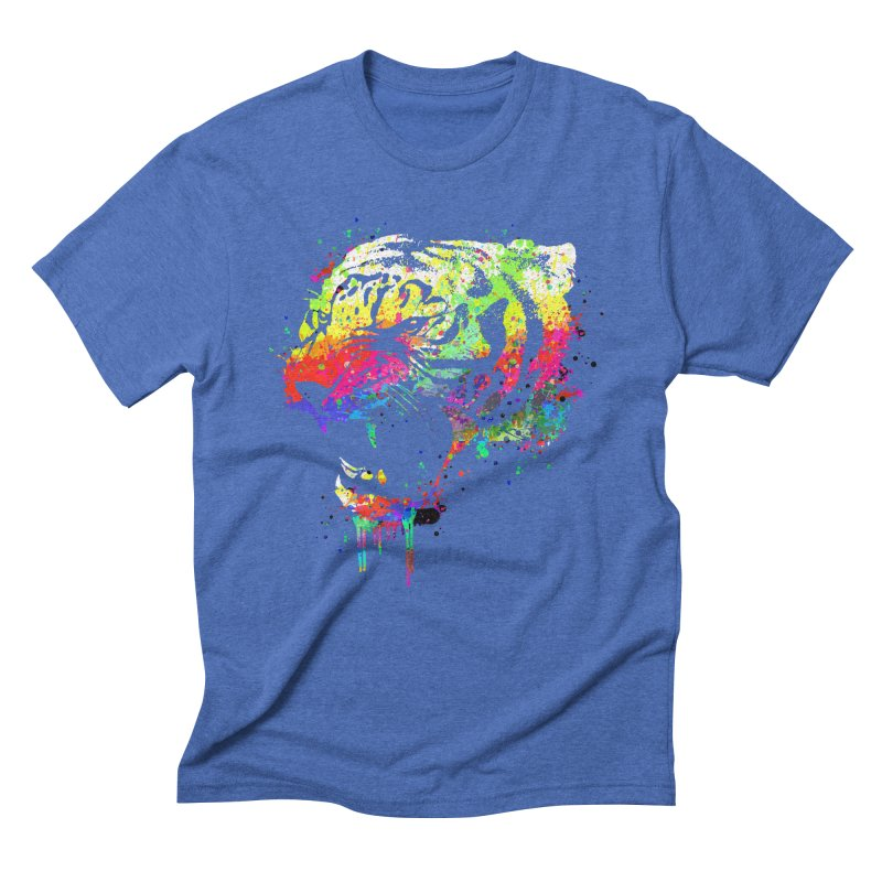 Dripping color tiger Men's  by clingcling's Artist Shop