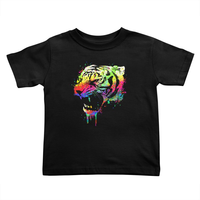 Dripping color tiger Kids Toddler T-Shirt by clingcling's Artist Shop