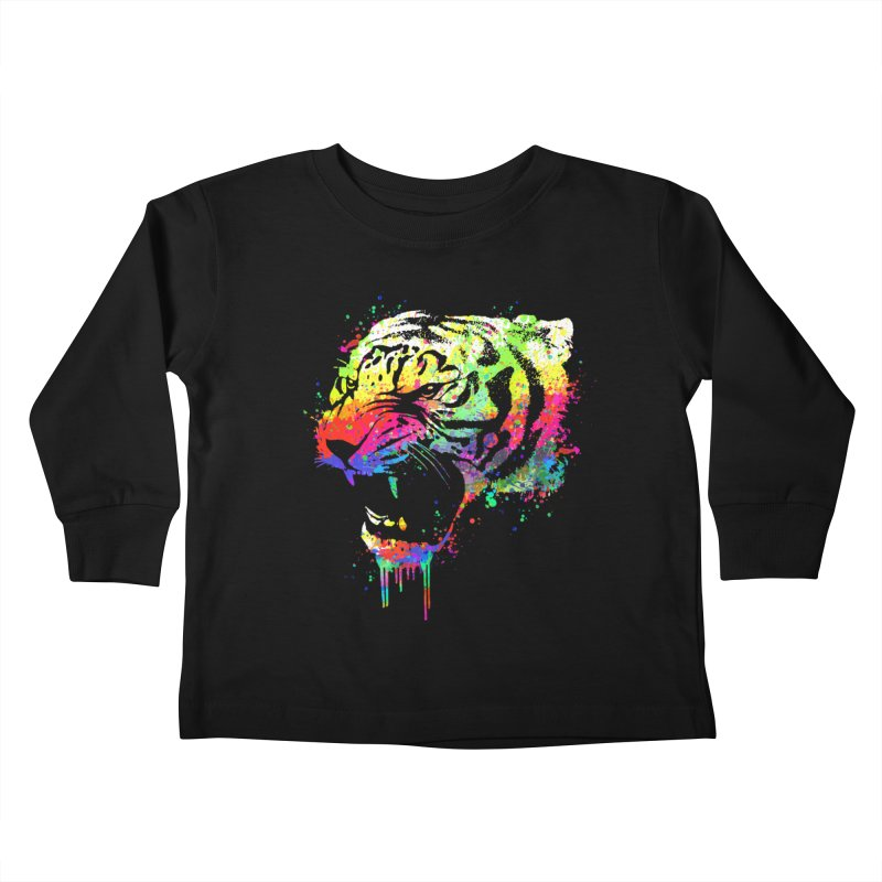 Dripping color tiger Kids  by clingcling's Artist Shop