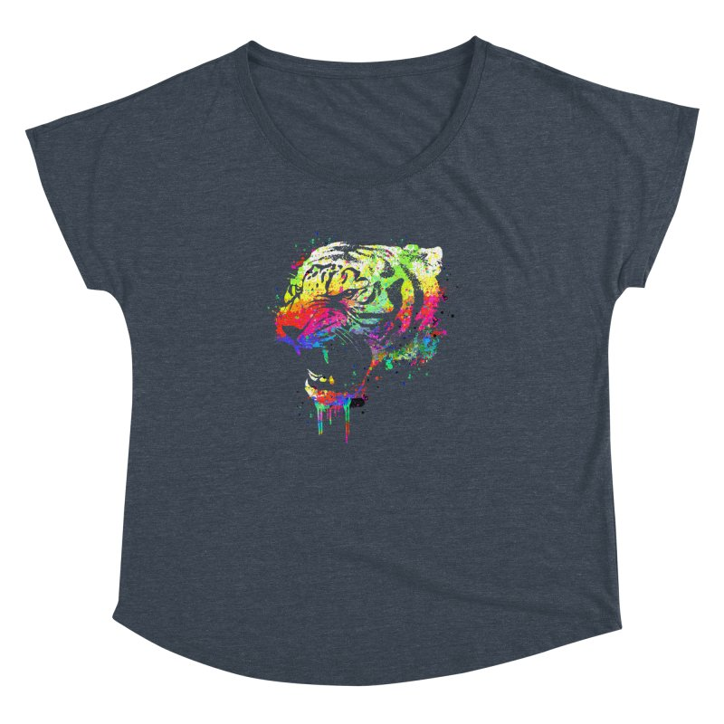 Dripping color tiger Women's  by clingcling's Artist Shop