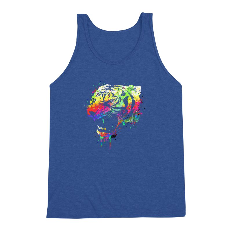 Dripping color tiger Men's Triblend Tank by clingcling's Artist Shop