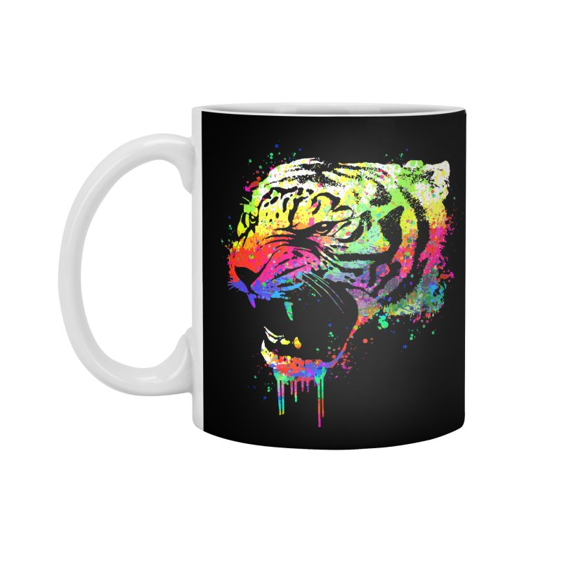 Dripping color tiger Accessories Mug by clingcling's Artist Shop