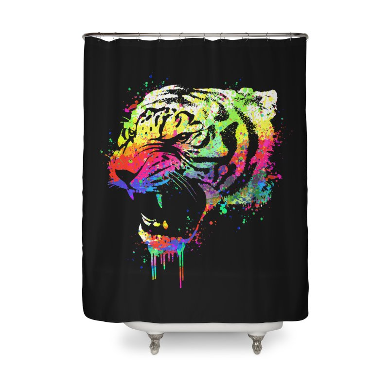 Dripping color tiger Home  by clingcling's Artist Shop