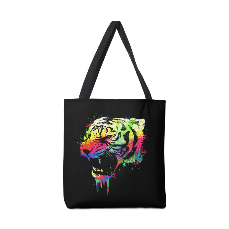 Dripping color tiger Accessories Bag by clingcling's Artist Shop