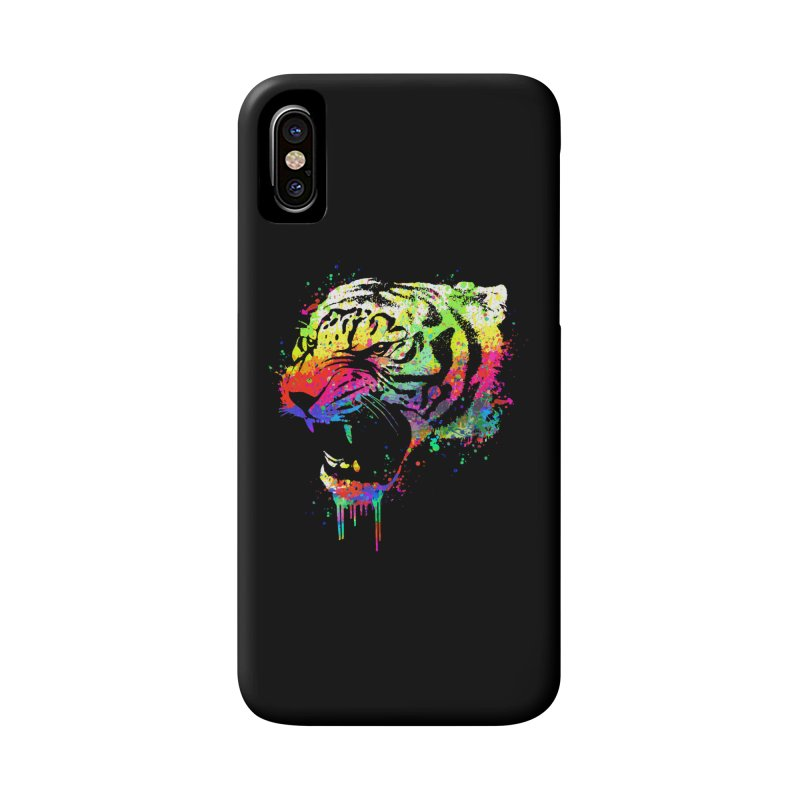 Dripping color tiger Accessories Phone Case by clingcling's Artist Shop