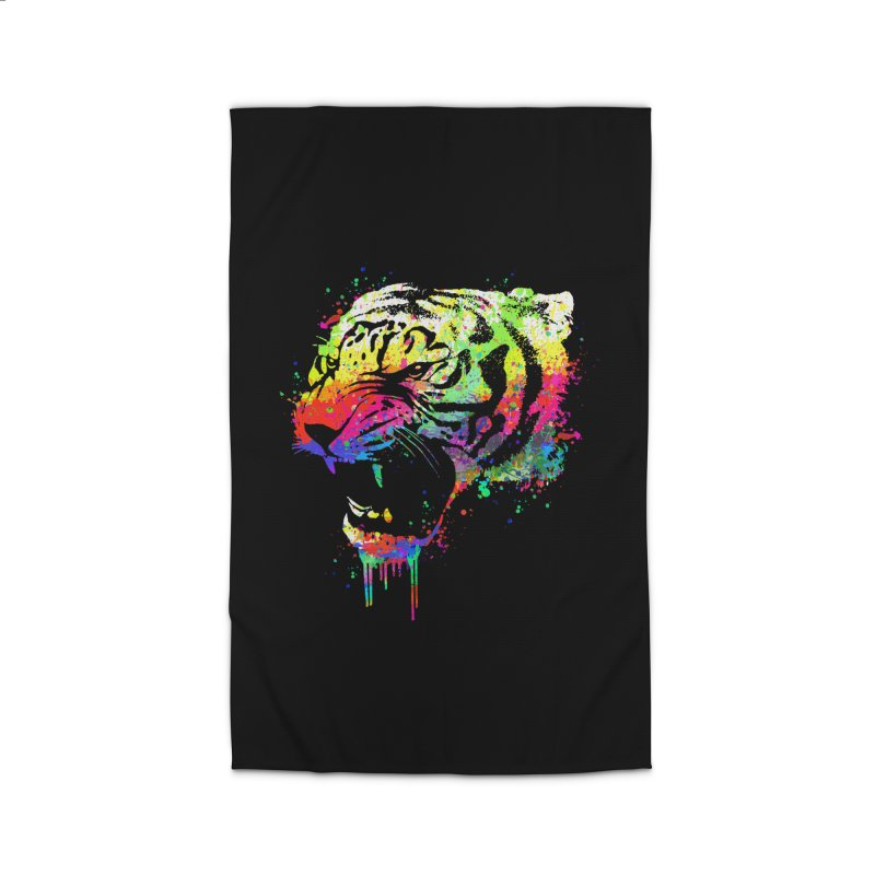 Dripping color tiger Home Rug by clingcling's Artist Shop