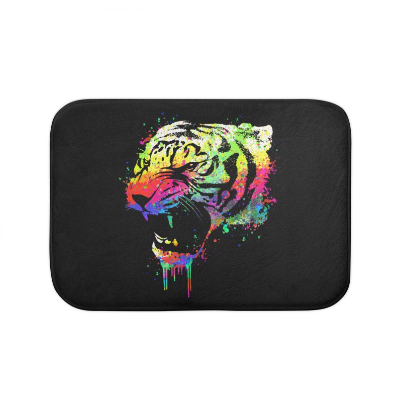 Dripping color tiger Home Bath Mat by clingcling's Artist Shop