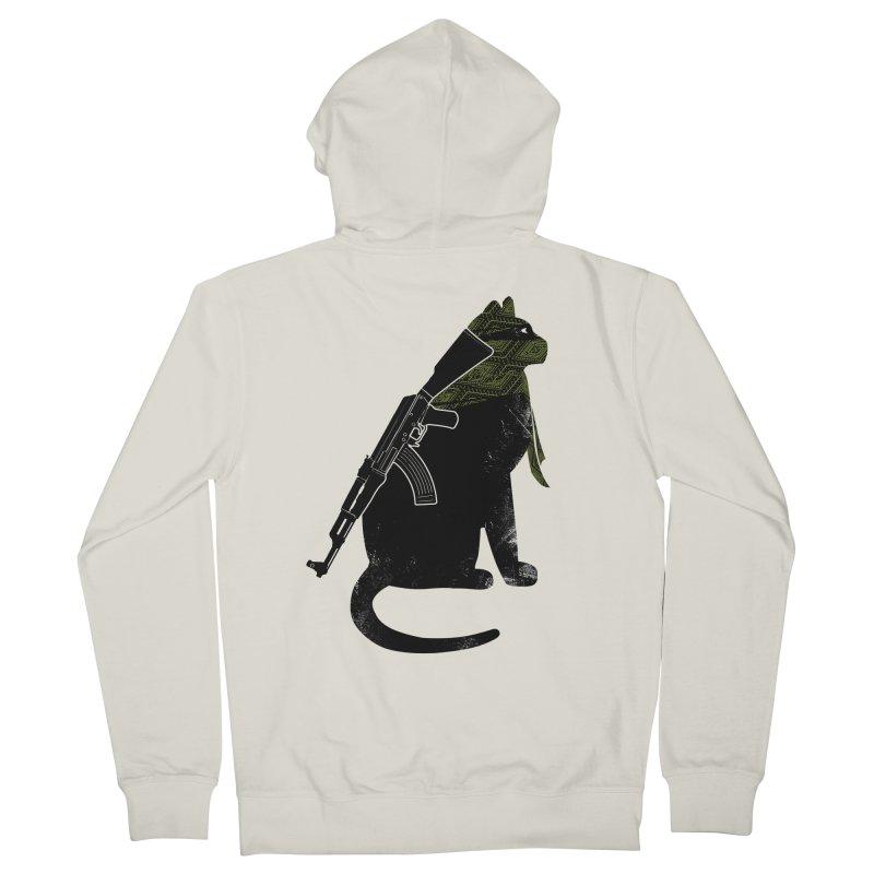 Terrorist Cat Women's French Terry Zip-Up Hoody by clingcling's Artist Shop