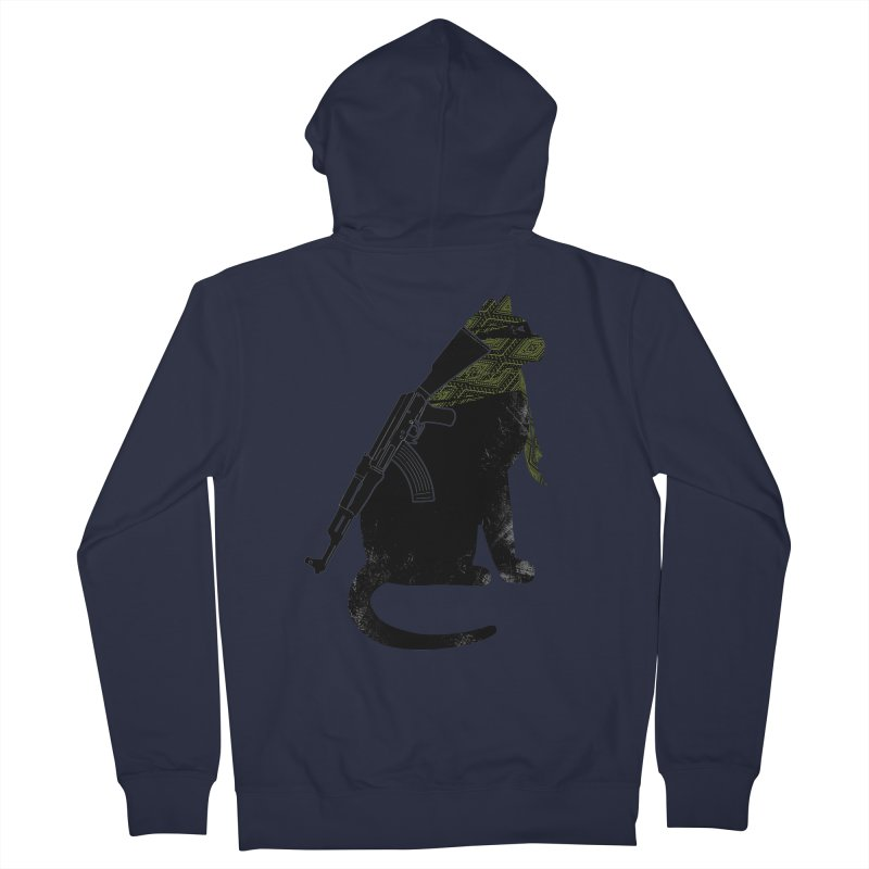 Terrorist Cat Women's French Terry Zip-Up Hoody by clingcling's Artist Shop