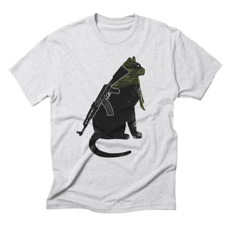Terrorist Cat Men's Triblend T-Shirt by clingcling's Artist Shop