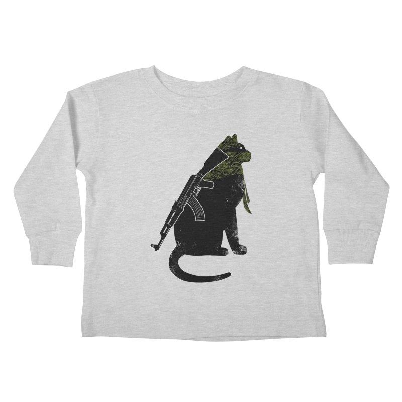 Terrorist Cat Kids Toddler Longsleeve T-Shirt by clingcling's Artist Shop