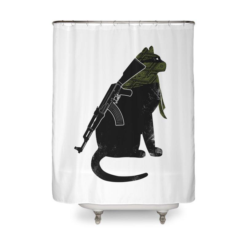 Terrorist Cat Home Shower Curtain by clingcling's Artist Shop
