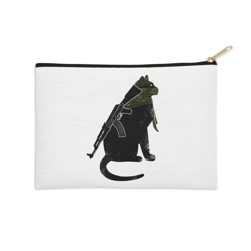 Terrorist Cat Accessories Zip Pouch by clingcling's Artist Shop
