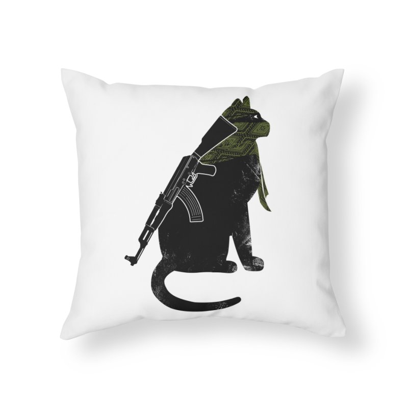 Terrorist Cat Home Throw Pillow by clingcling's Artist Shop