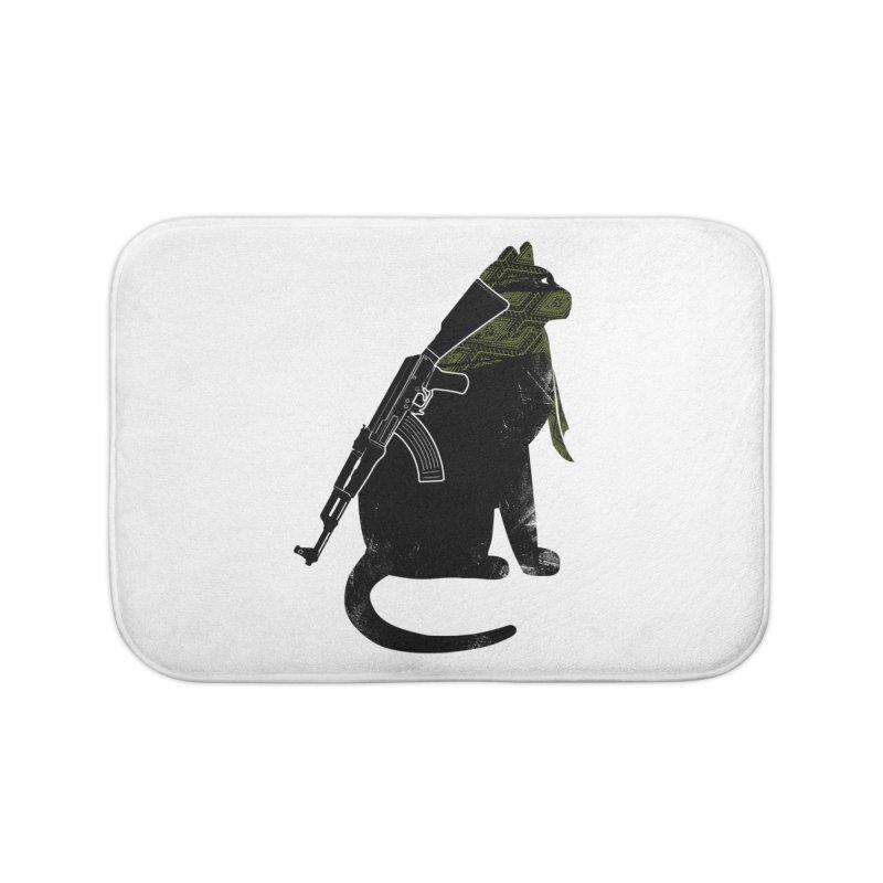 Terrorist Cat Home Bath Mat by clingcling's Artist Shop