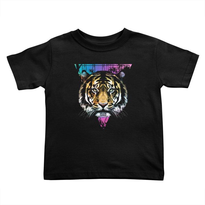 Tiger Kids Toddler T-Shirt by clingcling's Artist Shop