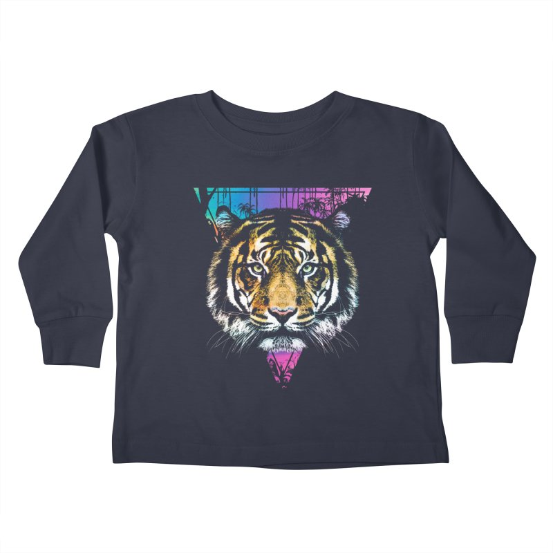 Tiger Kids Toddler Longsleeve T-Shirt by clingcling's Artist Shop