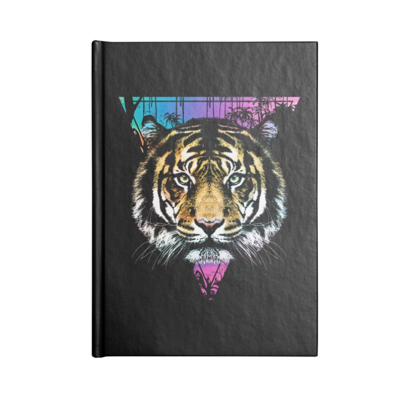 Tiger Accessories Blank Journal Notebook by clingcling's Artist Shop