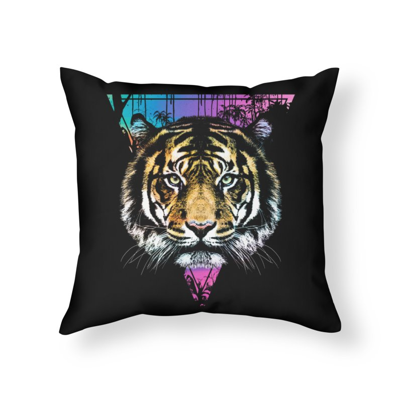 Tiger Home Throw Pillow by clingcling's Artist Shop