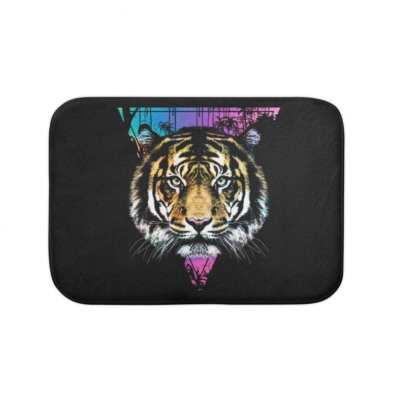 Tiger Home Bath Mat by clingcling's Artist Shop