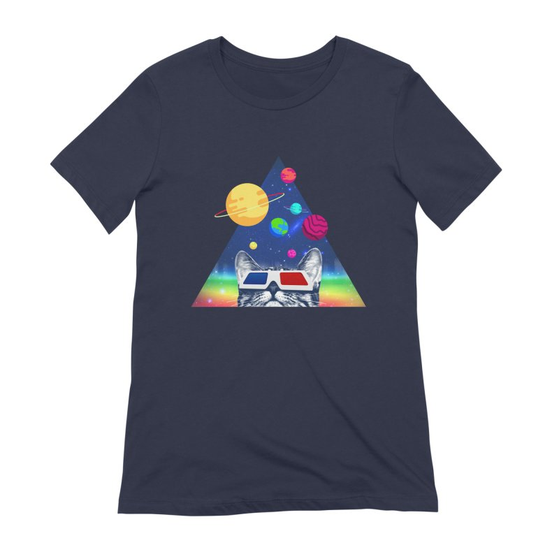 3D Cat Women's Extra Soft T-Shirt by clingcling's Artist Shop