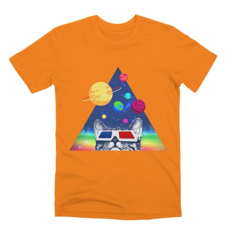 3D Cat Men's Premium T-Shirt by clingcling's Artist Shop