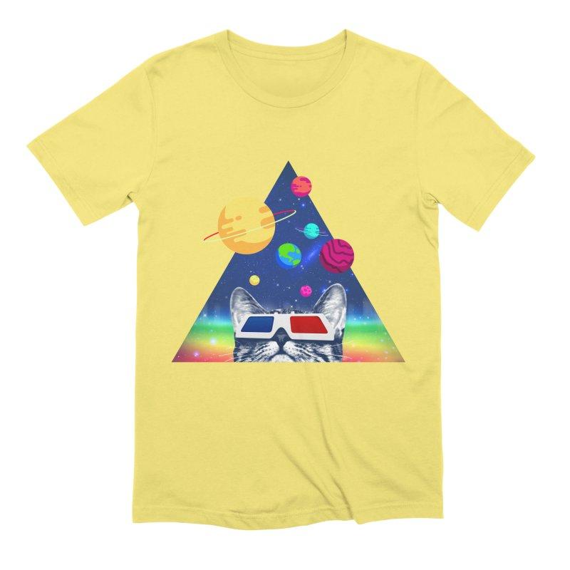 3D Cat Men's Extra Soft T-Shirt by clingcling's Artist Shop