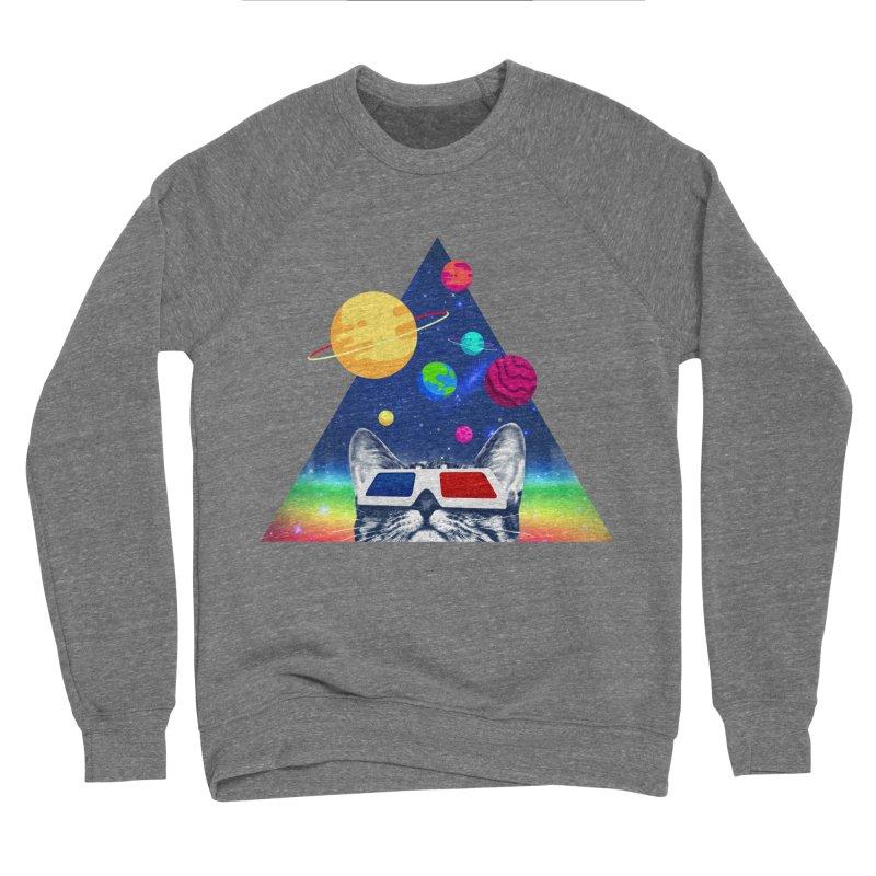 3D Cat Men's Sponge Fleece Sweatshirt by clingcling's Artist Shop