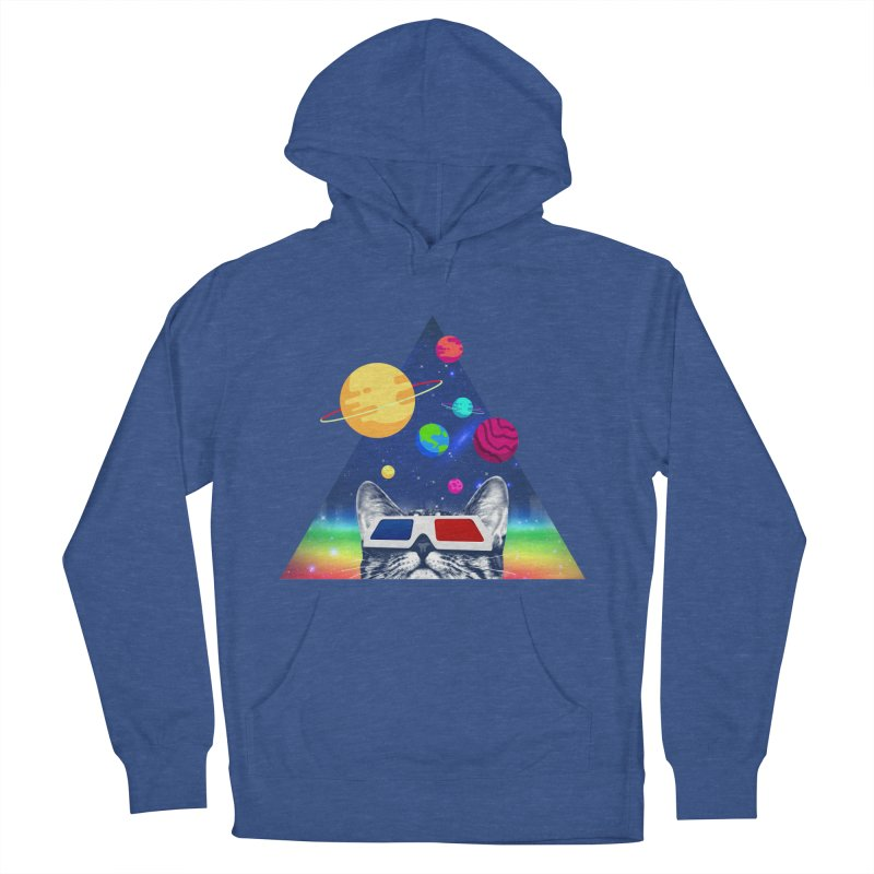 3D Cat Men's French Terry Pullover Hoody by clingcling's Artist Shop