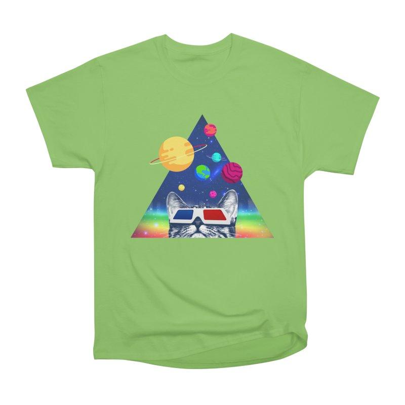 3D Cat Women's Heavyweight Unisex T-Shirt by clingcling's Artist Shop
