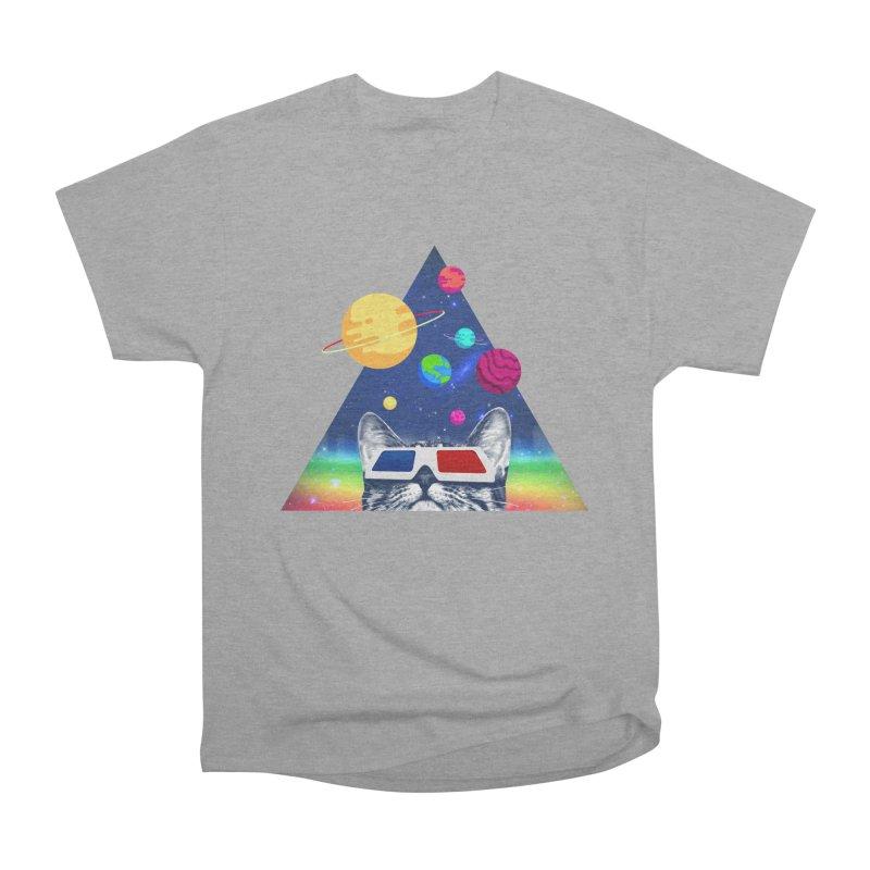 3D Cat Men's Heavyweight T-Shirt by clingcling's Artist Shop