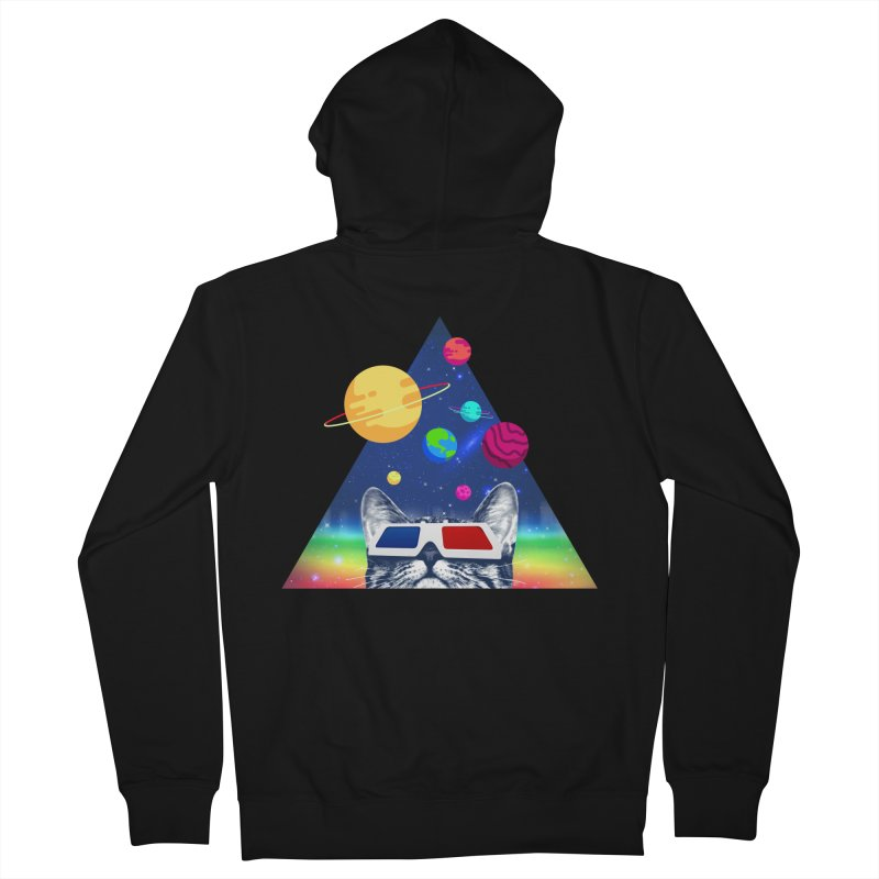 3D Cat Men's French Terry Zip-Up Hoody by clingcling's Artist Shop