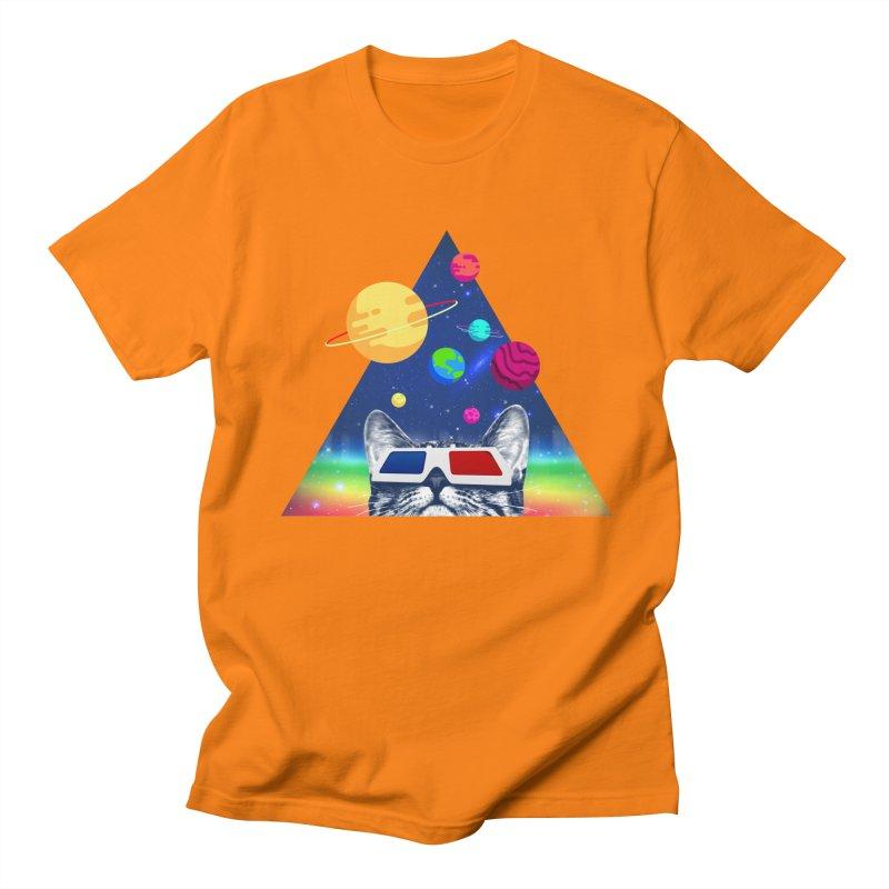 3D Cat Men's Regular T-Shirt by clingcling's Artist Shop