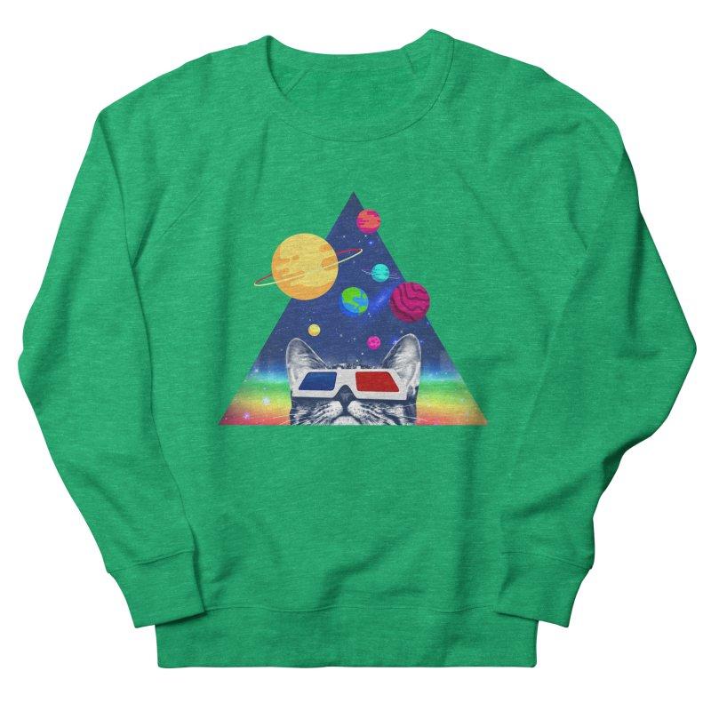 3D Cat Women's French Terry Sweatshirt by clingcling's Artist Shop