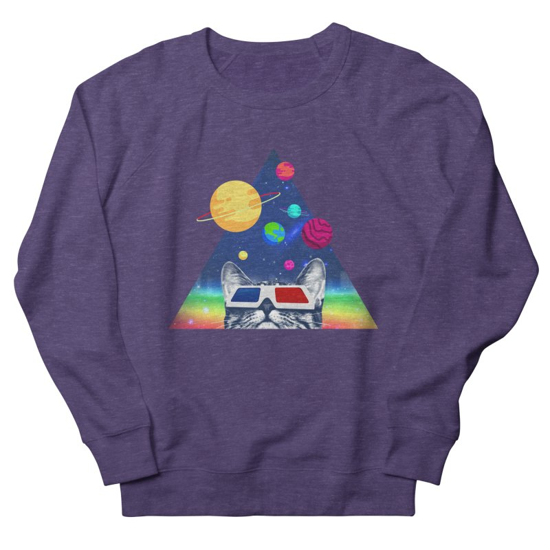 3D Cat Women's French Terry Sweatshirt by clingcling's Artist Shop