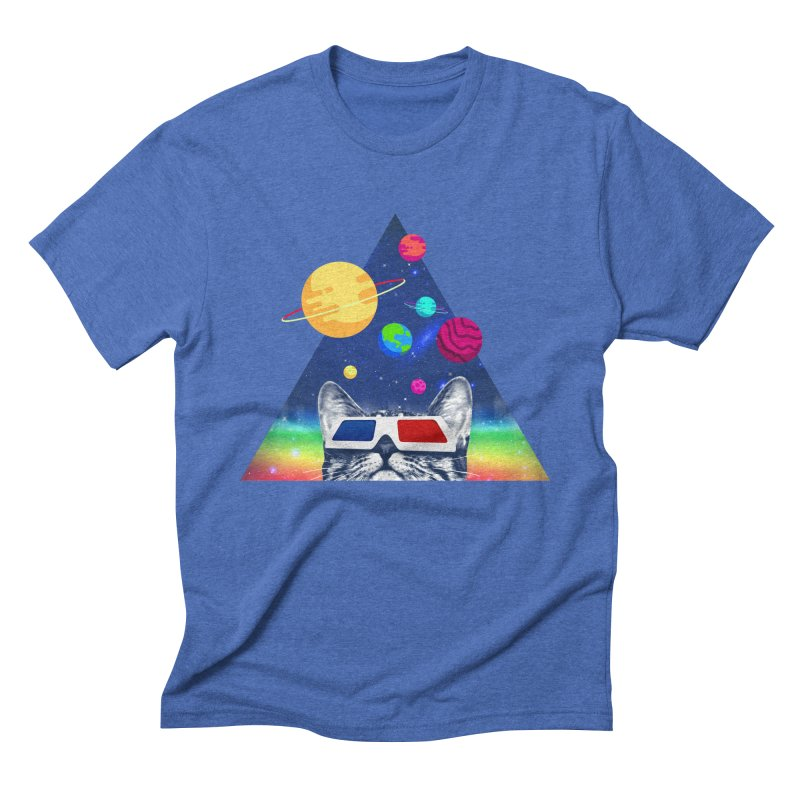 3D Cat Men's Triblend T-Shirt by clingcling's Artist Shop