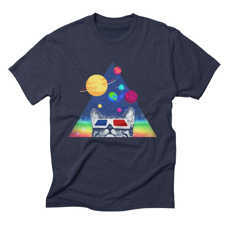 3D Cat Men's Triblend T-Shirt by clingcling's Artist Shop