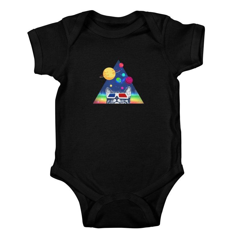 3D Cat Kids Baby Bodysuit by clingcling's Artist Shop