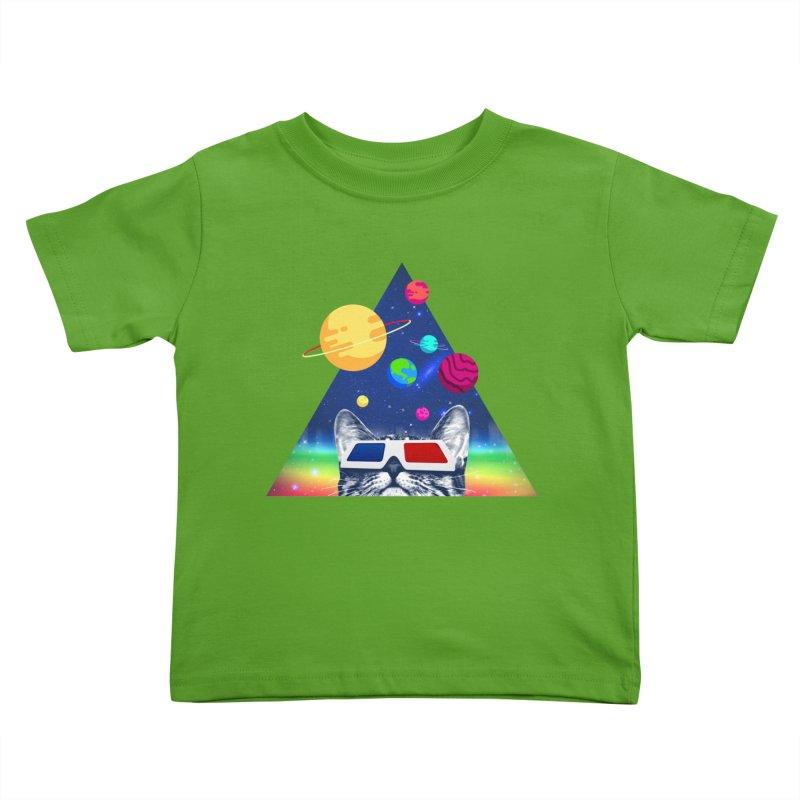 3D Cat Kids Toddler T-Shirt by clingcling's Artist Shop