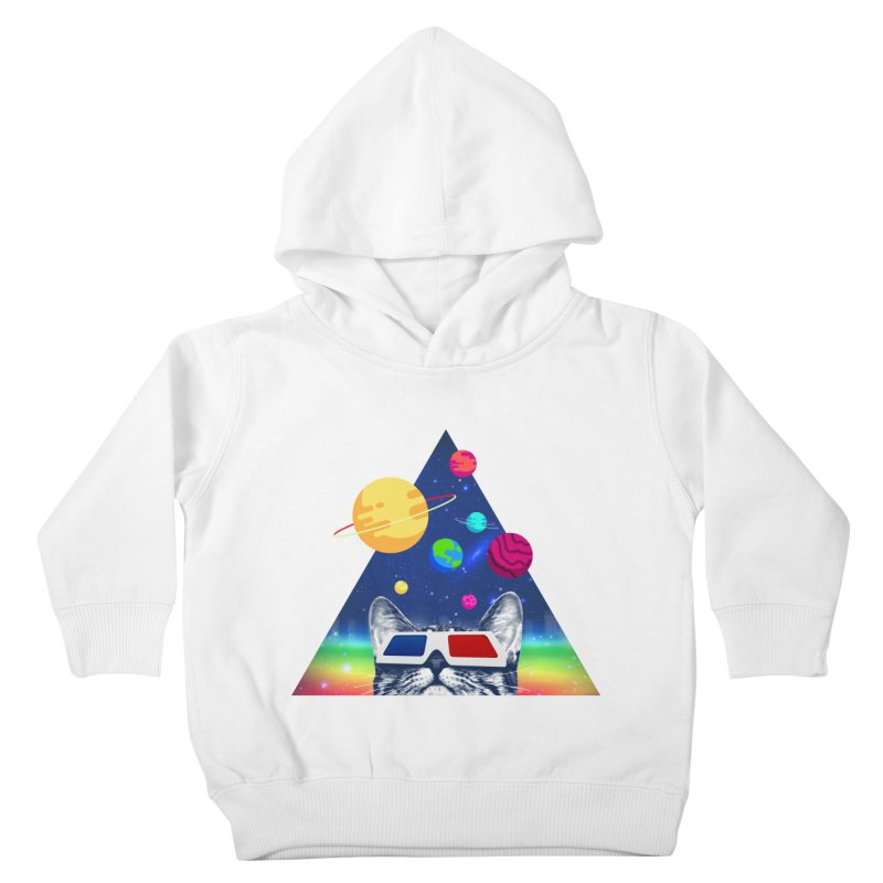 3D Cat Kids Toddler Pullover Hoody by clingcling's Artist Shop